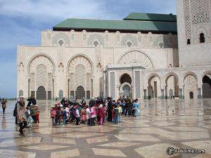 Children by Hassan II mosque