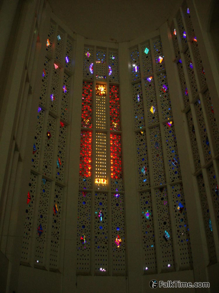 Stained glass of Sacre Coeur cathedral