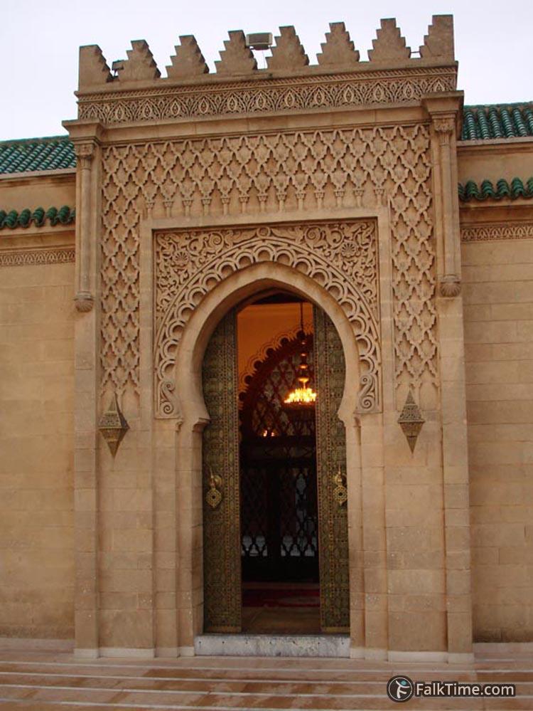 Open door in mausoleum