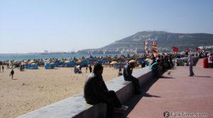 Agadir beach, view to casbah