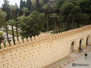 Wall surrounding Bab Bou Jeloud garden
