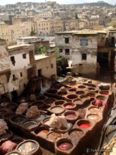 View to tannery vessels and the city