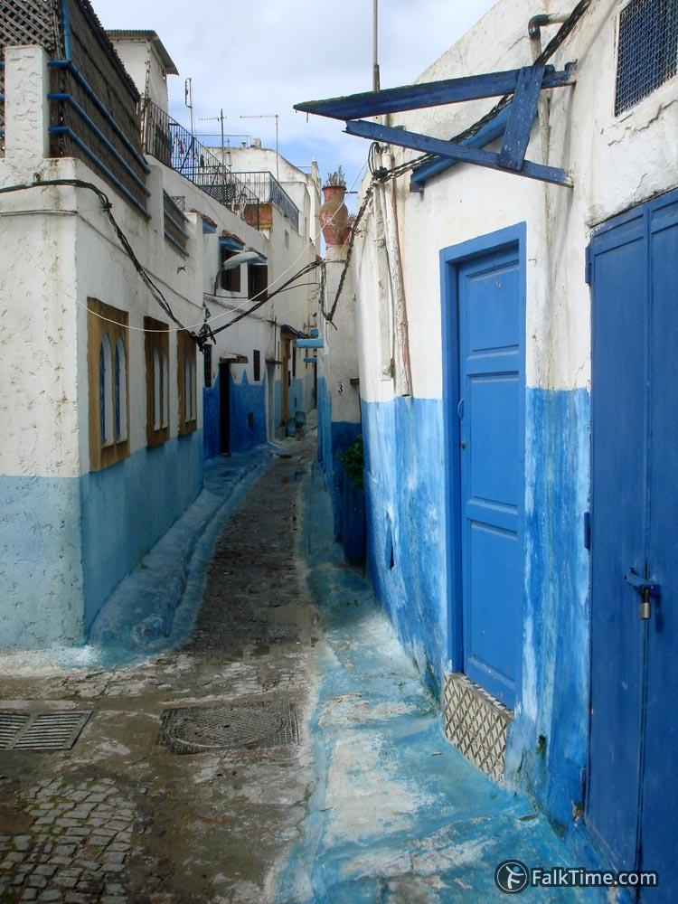 Blue & white street
