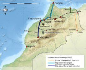 Map of Morocco railways
