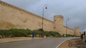 Wall of kasbah Cherarda