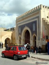 Red petit-taxi in Fez