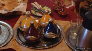 Sauces and spices in small tagines