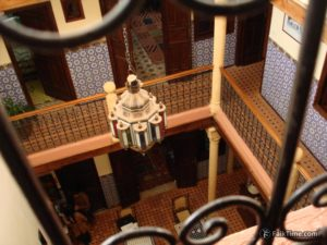 Atrium of riad