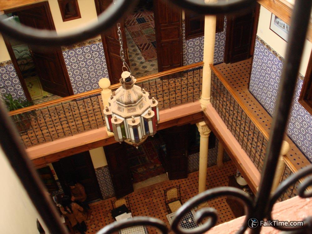Atrium of riad