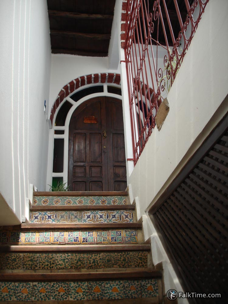 Stairway in Moroccan riad