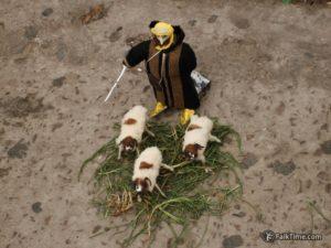 Toy Arabian warrior and sheep