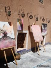 Paintings in kasbah inner yard