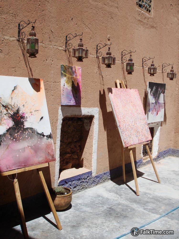Paintings in kasbah inner yard
