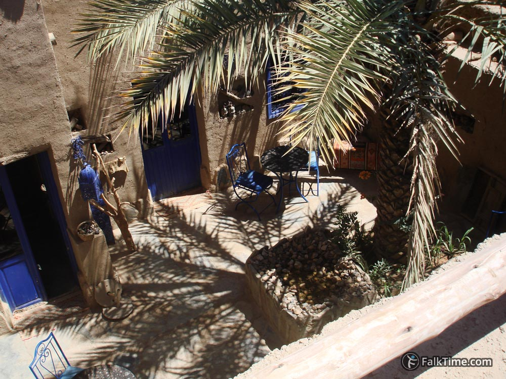 Inner yard of Moroccan guesthouse