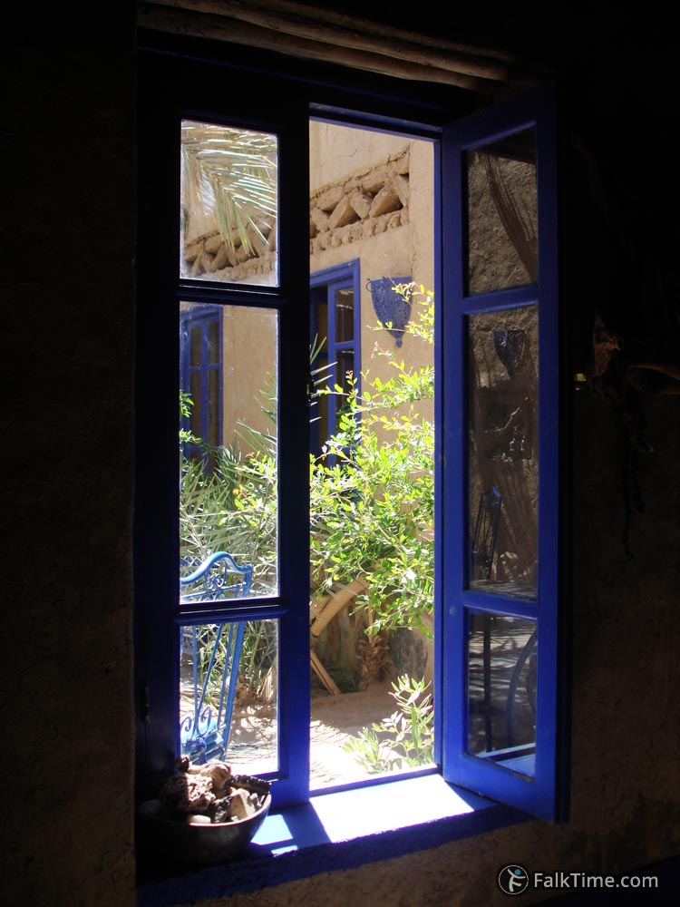 A window in Chez Youssef guesthouse