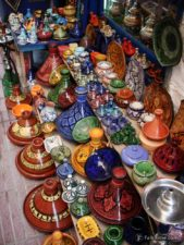 Colourful tagines of all sizes