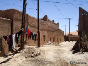 Rammed earth buildings and laundry