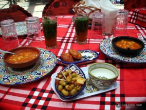 Complimentary dishes in Morocco