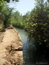 Canal of irrigation system of valley