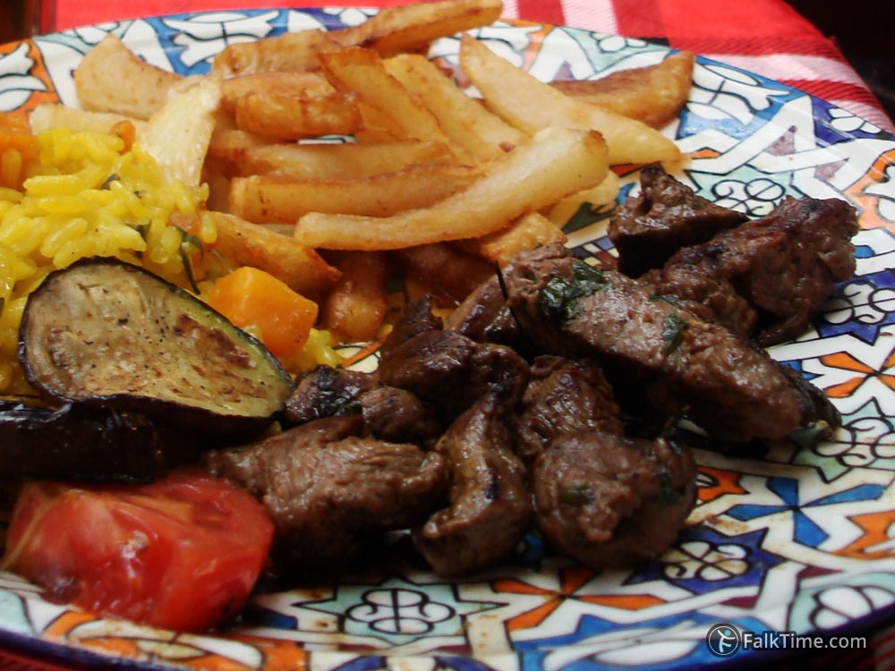 Meat in chermoula
