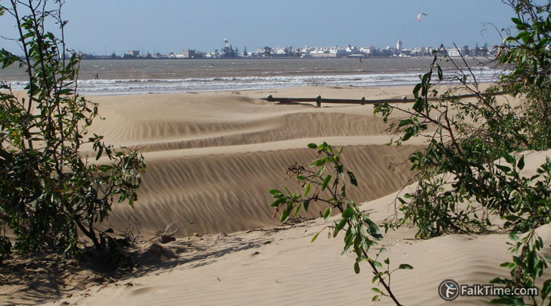 Dunes and view to Essaouira