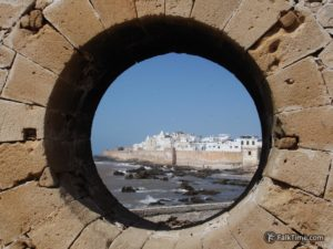 Famous hole-view of Essaouira
