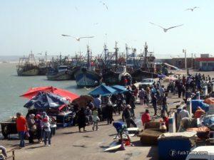 Fish market in port of Essaouira