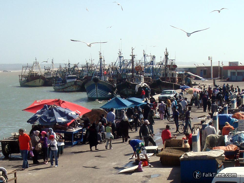 Fish market in port of Essaouira