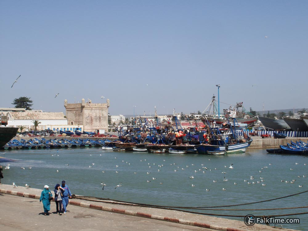Walks in port of Essaouira