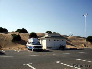 Dunes crawl to parking place