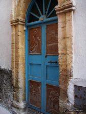 Decorated door in medina
